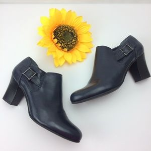 Franco Sarto Low-Cut Ankle Booties, Navy Blue.